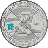 2009 UK Coin £5 / Crown Silver Proof Countdown to the Olympics 20438