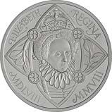 2008 UK Coin £5 / Crown Silver Proof Piedfort 450th Ann of Queen Elizabeth 21519