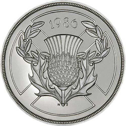 1986 UK Coin £2 Silver Proof Commonwealth Games
