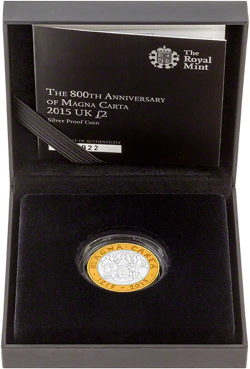 2015 UK Coin £2 Silver Proof Magna Carta 22671