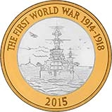2015 UK Coin £2 Silver Proof The Royal Navy 22678