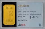 100g Gold Bar UBS 24559