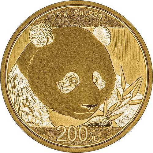 2018 15g Gold Coin Panda Bullion 24649