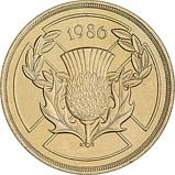1986 UK Coin £2 Ordinary Circulation Commonwealth Games 25219