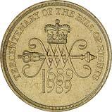 1989 UK Coin £2 Ordinary Circulation Bill of Rights 22025