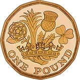 2017 UK Coin £1 Gold Proof Nations of the Crown 21770