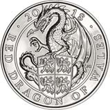 2018 UK Coin £5 / Crown BU Queen's Beasts - Red dragon 24008