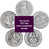 Silver Coin Bundle Royal Mint CGT Exempt - 7 Coins 24873