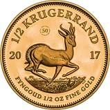 2017 0.5 oz Gold Coin Krugerrand Proof - 50th Anniversary Privy 23976