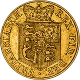 1817 Gold Half Sovereign George III London aVF 21525