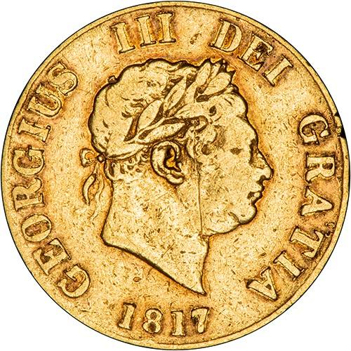 1817 Gold Half Sovereign George III London Fine 24896