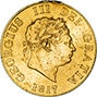 1817 Gold Half Sovereign George III London aVF gFine Edge Damage 22626