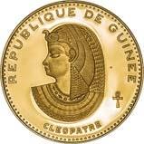 1970 Gold Republique de Guinea 5000 Francs aFDC Cleopatra 23118