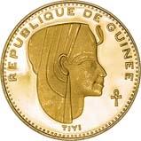 1970 Gold Republique de Guinea 5000 Francs aFDC Teyi /Tiyi 23260