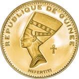 1970 Gold Republique de Guinea 5000 Francs aFDC Nefertiti 24997
