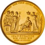 1821 King George IV Coronation Gold Medallion 21186