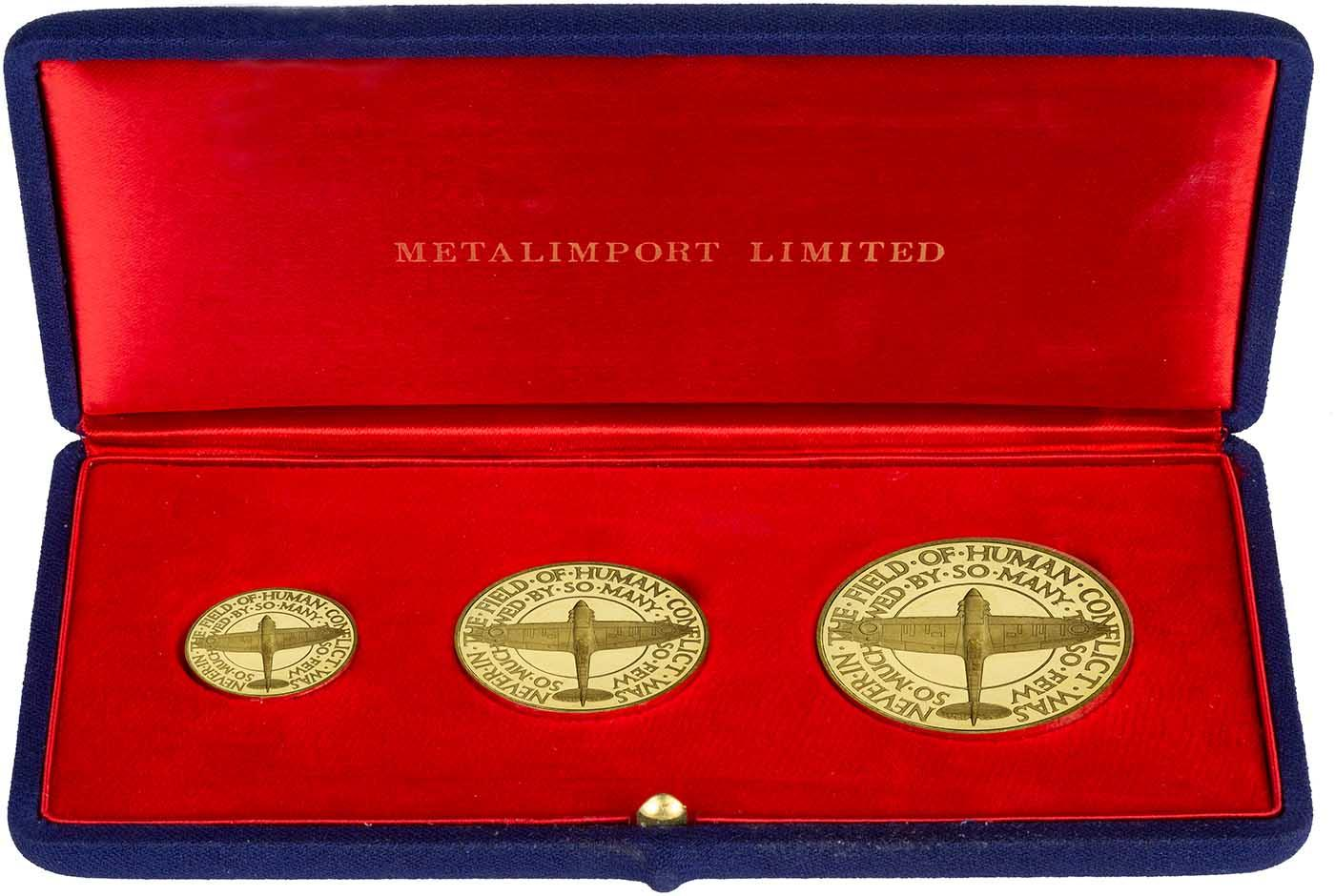 Great Britain 1975 Proof Set Medallion~Collect Year Medallions~Free Shipping