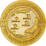 1966 Large Gold Medallion Individual  900th Anniversary Battle of Hastings 20727