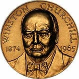 1965 Large Gold Medallion Individual  Winston Churchill John Pinches United Kingdom 21335