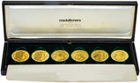 Gold Medallion Set - 6 Pieces Prime Ministers of Great Britain 21741