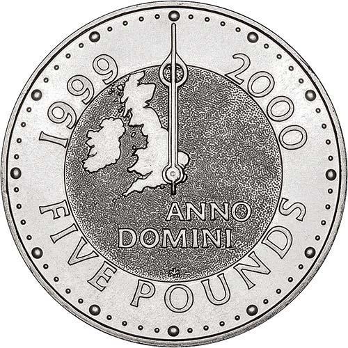 1999 UK Coin £5 / Crown BU Millennium