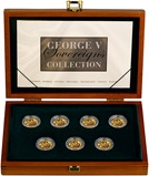 George V Mintmark Sovereign Collection - 7 Coins 23475