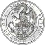 2018 1 oz Silver Coin Silver Proof Queen's Beasts - Red dragon 21491