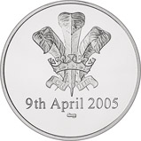2005 Charles and Camilla Platinum Proof Medallion 21451