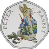 2018 UK Coin 50p Silver Proof Beatrix Potter - Peter Rabbit 23690