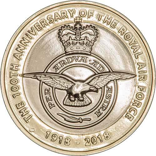 2018 Royal Mint 100 Years of Royal Air Force /£2 coin BU brilliant uncirculated