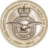 2018 UK Coin £2 BU RAF Centenary Badge 24094