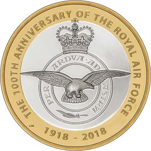 2018 UK Coin £2 Silver Proof RAF Centenary Badge