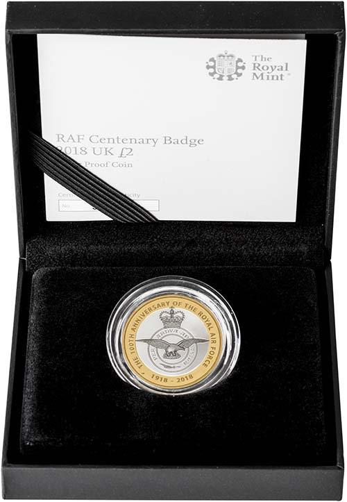 2018 UK Coin £2 Silver Proof RAF Centenary Badge 22962