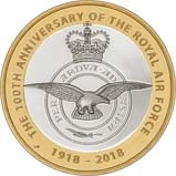 2018 UK Coin £2 Silver Proof RAF Centenary Badge 22961