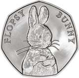 2018 UK Coin 50p BU Beatrix Potter - Flopsy Bunny 24959