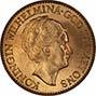 1932 Gold Netherlands 10 Guilders aUNC 24918