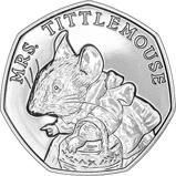 2018 UK Coin 50p BU Beatrix Potter - Mrs Tittlemouse 24665