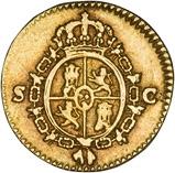1788 Gold Spain Half Escudo Seville aFine Carlos III 24259