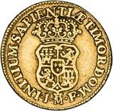 1740 Gold Spain 1 Escudo Madrid Phillip V 23016