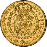 1801 Gold Spain 2 Escudo Madrid Carlos IV 25063