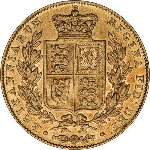 1841 Gold Sovereign Victoria Young Head Shield London Fine gFine 20732