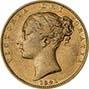 1841 Gold Sovereign Victoria Young Head Shield London Fine gFine 20733