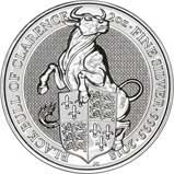 2018 2 oz Silver Coin Queen's Beasts Bullion Black Bull of Clarence 23623