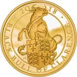 2018 1 oz Gold Coin Proof Queen's Beasts - Black Bull of Clarence 24968