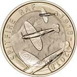 2018 UK Coin £2 BU RAF Centenary Spitfire 24936
