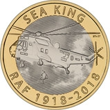 2018 UK Coin £2 BU RAF Centenary Sea King 20782