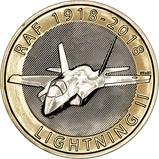 2018 UK Coin £2 BU RAF Centenary Lightning 23490