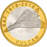 2018 UK Coin £2 Silver Proof RAF Centenary Vulcan 22338