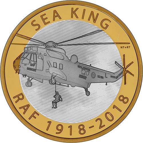 2018 UK Coin £2 Silver Proof RAF Centenary Sea King 25153