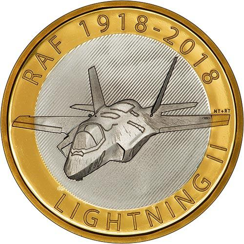 2018 UK Coin £2 Silver Proof RAF Centenary Lightning 23599